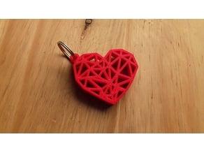 GEOMETRIC HEART KEY RING