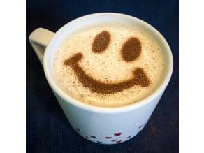 Coffee Stencil - Smiley Face