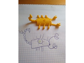 Scorpion designed by 7 year old boy