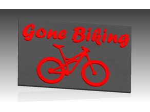 Gone biking sign with specialized enduro (2016) silhouette