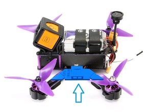 Mount gps ublox micro in arms racer drone