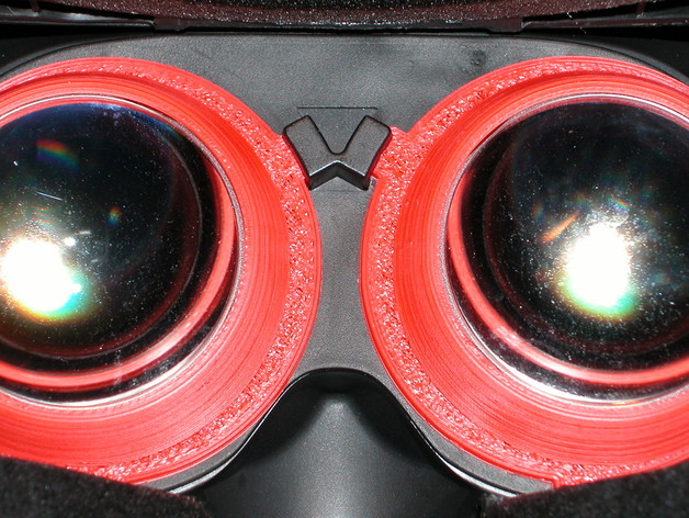 Oculus Rift DK2 - Eye / lens cup - IPD 68mm, -5-dioptre by marrr