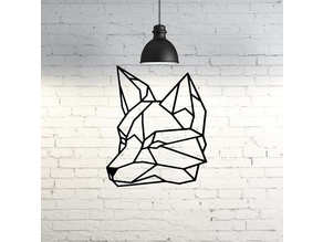 Wolf Face Wall Sculpture 2D
