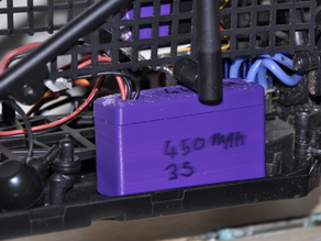 Small LiPo battery box for RC dune buggy