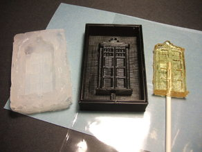 TARDIS Lollipop Mold