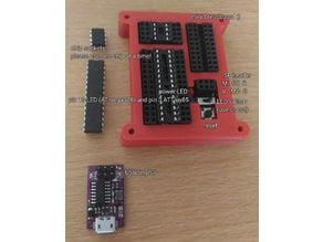 ATmega328p and ATtiny85 ISP programmer case + board tutorial