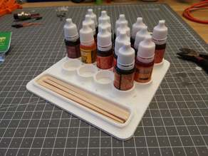 Resin color pigment (Dye) support