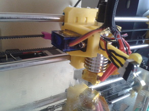 E3D holder for bowden and auto bed leveling