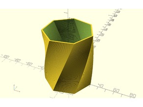 Geometric twist vase
