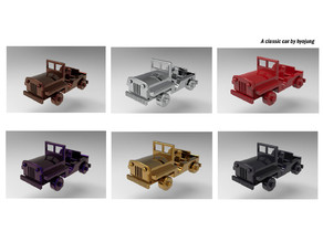Classic car miniature toy