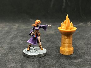 28mm Stone Brazier with Removable Fire