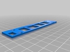 "6"" Rack,Raspberry Pi 3 Model B, Modified Backplate"