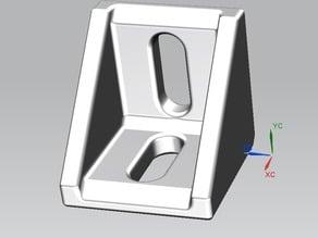 supporto angolare per profilato alluminio 30x30 mm. - mounting bracket for aluminium sections 30 x 30 mm.