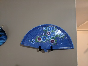 Decorative Hand Fan Wall Holder