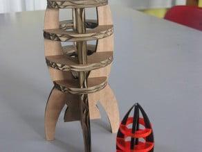 Cardboard/Acrylic Rocket