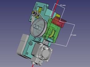 Little Nema14 Belted Flex Extruder for E3DV6