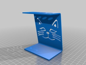 toothbrush stand with cats image