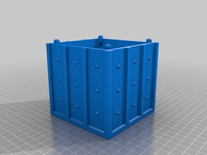 Riveted metal crate piggy bank