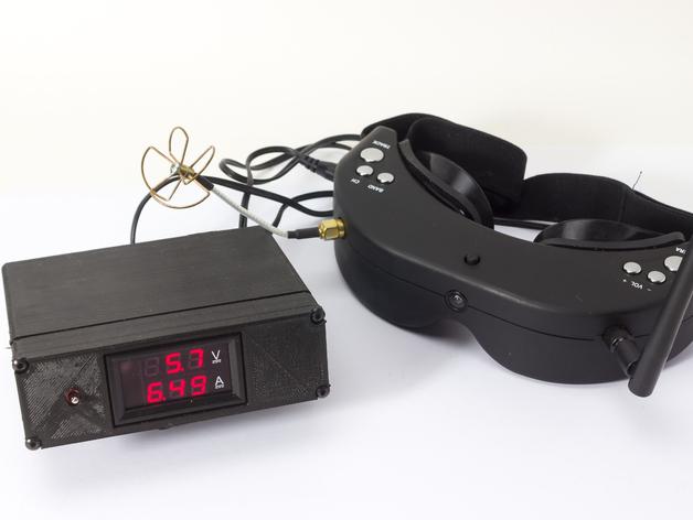 Fatshark/Skyzone FPV goggles lead battery box with volt