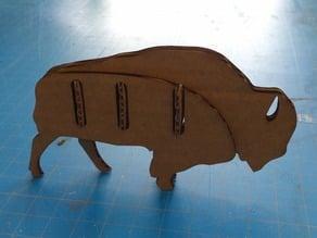 Laser Cut Bison