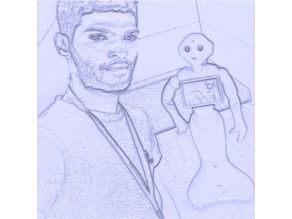 lithophane 3D Print me and pepper Robot