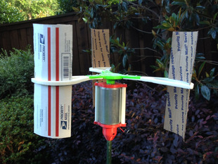 "Modified Vertical Axis Wind Turbine (1/4"" Motor Shaft)"