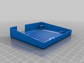 Easy print Ender 3 LCD back case with or without speaker blocker