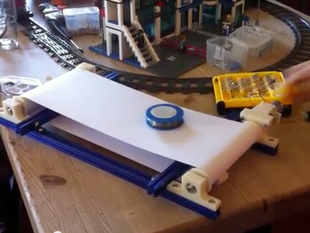 Conveyor belt with som 3D printed parts