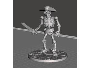28mm Skeleton Warrior Pirate Captain