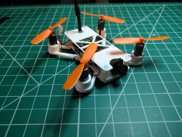 micro quadcopter frame 90mm x by tbrady420 thingiverse