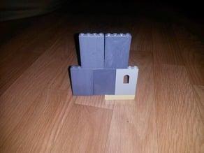 Lego compatible wall piece (no window)