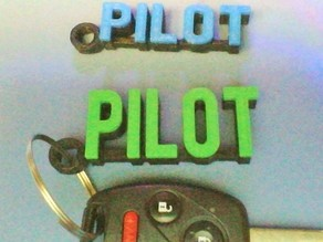 Simple Honda Pilot Keychain