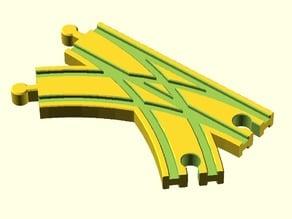 Toy Wood Train Track / Spielzeug Holzeisenbahn Schienen / Weiche Doppelt / BRIO Thomas IKEA eBay kompatibel