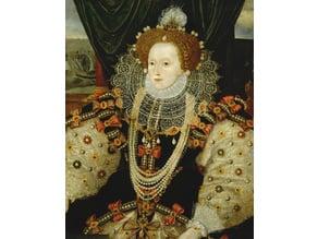 Queen Elizabeth I by George Gower lithophane