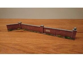 Brick Walls - 28 mm wargaming terrain
