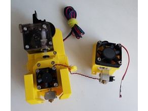 Modular Extruder for Prusa-Style Printers with E3D Titan and UnitedPro Fan