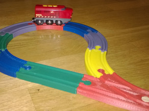 Brio train rail end loop