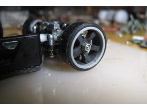 2 Piece 1/28 scale Racing wheel.