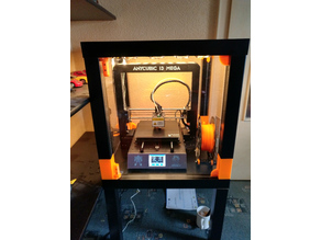 Two door enclosure for Anycubic i3 mega with Ikea Lack tables