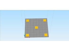 Ender-3 First Layer Test / Calibration (Teste de nivelamento da primeira camada para Ender-3)
