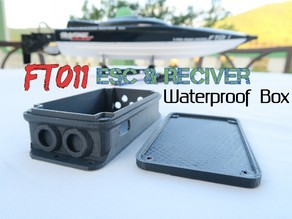 Waterproof Box for ESC & Reciver - For FT011 Racing Boat Model {Salt water improvement}