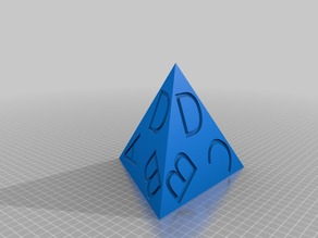 Four-side dice with ABCD