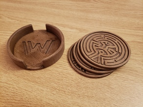Westworld Coaster Holder
