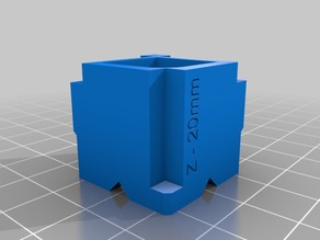 Better 3 axis calibration cube