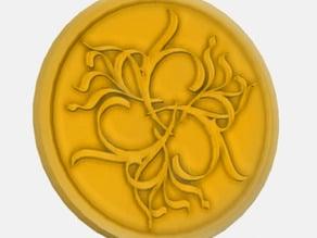 Ornamental Coin - Aesthetic Lorentz Force Curves