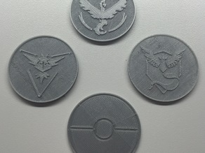Pokemon Team Coins