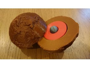 Earth topography with inner and outer core - embedded magnets version