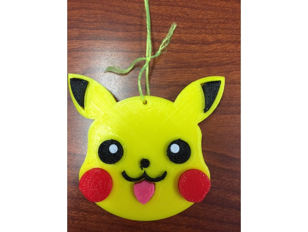 Pikachu Christmas Ornament.Christmas Ornament Pikachu By Saucejohn Thingiverse