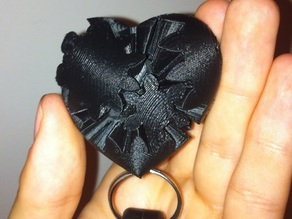 Working Micro Gear Heart Keychain