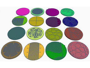 60mm Round Bases (x16) for Warhammer 40k or Dungeons & Dragons tabletop Miniatures